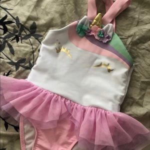 Toddler unicorn swimsuit one piece 2t